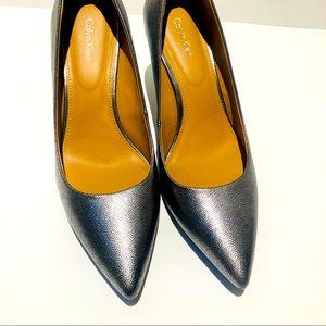 Calvin Klein dark silver heels